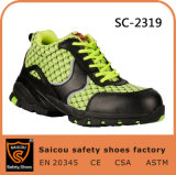 Saicou Brand Rubber+EVA Sole Safety Shoes No Lace Work Boots Sc-2319