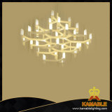 Modern Top Popular New Design Glass Aluminum Indoor Chandeliers (2209s2)