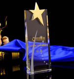 Jingyage Clear K9 Crystal Star Trophy Award Souvenir Gifts 3 Sizes Available