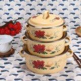 Enamel Kitchenware Set Cover 5PCS ,Enamel Casserole Cookware (673D)