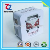 Professional OEM Rectangular Small Silver Thin Metal Tin Box
