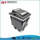 Waterproof Electronic Power Switch LED Illuminated Light Automotive Push Button Micro Rocker Switch for Cars