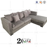 Modern L-Shape Small Sectional Furniture Fabric Corner Sofa Set