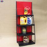 Factory Custom Multi-Layer Oil Display Stand Lubricant Display Shelf Backboard Oil Rack Hole Plate Rack