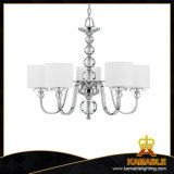 Contemporary Decorative Iron Crystal Pendant Lamps (KACL 5468 CR+WT)