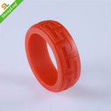 Red Silicone Embossed Printing Finger Ring