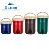 Plastic Milk Tea Bukcet Double Layers Thermal Barrel Heat Preservation Bucket Insulation Water Jug Keep Warm
