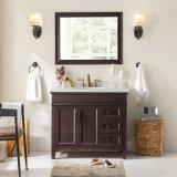 American Wholesale Balck Solid Wood Standing Bathroom Cabinet (ACS1-W087)