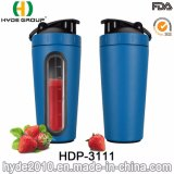 Wholesale Gym 700ml Stainless Steel Protein Shaker Bottle with Scale Window (HDP-3111)