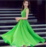 OEM Hot Sale Fashion Women Chiffon Long Party Dress