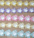 Multiple Color Milk Yarn Embroidery Lace for Garment Accessories