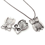 Antique Silver Plated Owl DIY Necklaces Pendants Fashion Jewelry Accessories