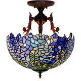 High Quantity Tiffany Semi Flush Lamp for Home/Hotel Decoration with Wholesale Price