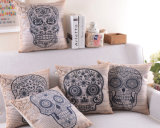 Skull Transfer Pillow Printed Fashion Decorative Cushion (SPL-437)