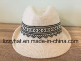 Women/Men jacquard Knitted Cotton Trilby Hat