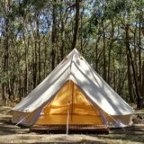 Luxury Outdoor Waterproof Four Season Family Camping Glamping Cotton Canvas Yurt Bell Tent
