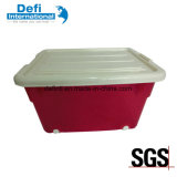 Plastic Environmental Protection Storage Box with Pulley