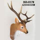 Home Decor Lifelike Resin Deer Head Wall Art for Sale