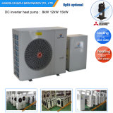 -25c Winter Area Floor 150sq Meter House Heating+Dhw Auto-Defrost12kw/19kw/35kw/70kw Evi Air to Water Monoblock Heat Pump Heater