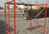 Easy Used Prefabricated Painted/Pre-Galvanized Ladder Frame Scaffolding for Construction