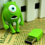 Wholesale Cartoon Mike Silicone USB Stick USB 2.0 32GB Pendrive USB Flash Drive Big Eye USB Memory