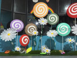 Bubble Carving Lollipop for Kindergarten Wedding Window Display Props Amusement Park Decoration