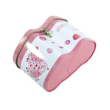 Heart Shaple Metal Tin Can Tinplate Packing Box for Candy Biscuit