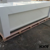 Customized Solid Surface 2 Person Restaurant Reception Desk