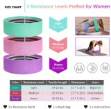 Loop Circle Home Fitness Gym Sport Hip Resistant Set Eco Latex Cotton Polyester Booty Shaping Yoga Resistance Bands