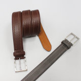 Genuine Leather Men's Belt High Quality Cowhide Belt with Zinc Pin Buckle 35-15122