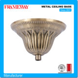 OEM Manufacturing Lighting Component Metal Ceiling Base Antique Copper Plated Steel Sheet Metal Forming Electroplated