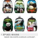 New Students Kung Fu Panda Backpack School Bag Students Customized Wholesale