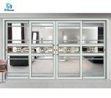 Best Prices Custom Specification 12mm Tempered Glass Door Black Aluminium Mosquito Net Sliding Door for Nigeria Outdoor
