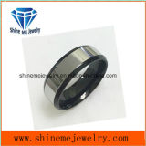 Fashion Polishing Surface and Black Bottom Ring Jewelry