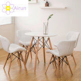 Nordic European Style Competitive Price Round Wooden Coffee Dining Table