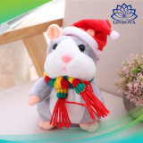 Christmas Electrical Talking Hamster Sound Record Plush Hamster Stuffed Toys for Children Gifts