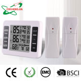 Wireless Indoor Outdoor Digital Refrigerator Thermometer with Audible Alarm for Freezer
