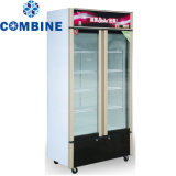 Big Capacity Display Refrigerator Steel Showcase
