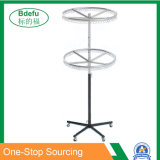 Two-Tire Round Rack with Steel Cutting Circle Scarf Rack