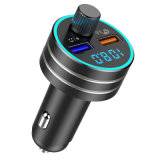 USB Car Charger Quick Charge 3.0 Dual USB Mobile Car Phone Charger with Bluetooth 5.0 FM Transmitter Handfree MP3 Card