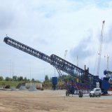 Telescopic Mobile Belt Conveyor Use for Barge Loading and Stacking Price Made in China
