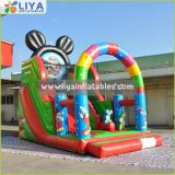 Exciting Classic Cartoon Inflatable Slide Mickey Inflatable Character Bounce Slide for Birthday