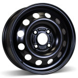 14X5.5 (4-108) Black Steel Winter Wheels