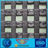 80/30kn Geogrid for Roadbed High Tensile Strength Warp-Knitting Polyester Geogrid
