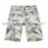 New Design Flower Printed 100% Cotton Men′s Shorts (GDS-18A)