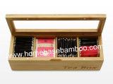 FDA LFGB Bamboo Tea Box Organizer Storage Box Storage Hb304