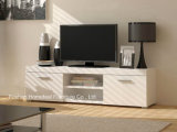 Modern White Matt TV Stand with 2 Drawers (HHTV03)