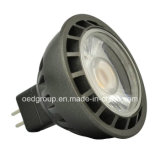 Black Case MR16 12V LED Spot Lamp with 7W COB LED