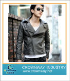Mens Fashion Casual PU Leather Jacket with New Design