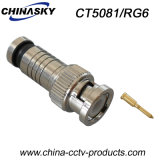 CCTV Male Compression BNC Connector for RG6 Cable (CT5081/RG6)